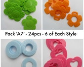 24pcs Baby Teether Chew. Non Toxic. Mixed Colours Pack 'A7'. AUD 7.40 Worldwide Postage!