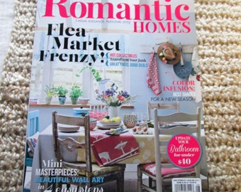 SALE Romantic Homes July 2015 Country Chic Magazine Design Decor Decorating Book TVAT EPSteam WLVteam hsh