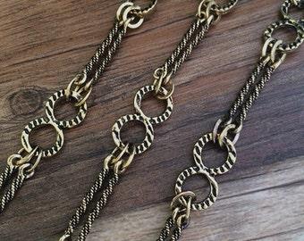 1m antique black gold  Chain flower chain