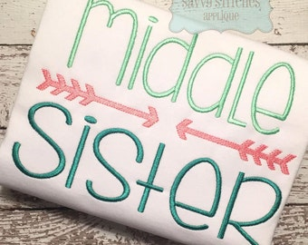 Middle Sister Machine Embroidery Design