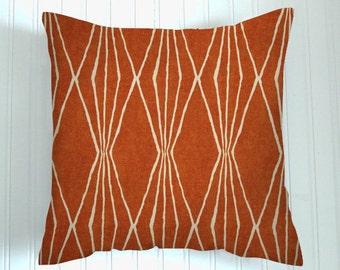 Burnt Orange Pillow Cover, Decorator Pillow,  Throw Pillow, Pillow Cover