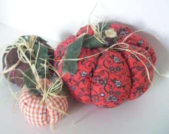 Halloween PUMPKINS, Primitive, Handmade,Home Decor, Country Decor, Cottage Chic, Earthtones