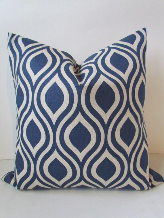 Dark Blue Decorative Pillows : THROW PILLOW Covers Navy Blue Pillows Dark Blue Pillow Covers