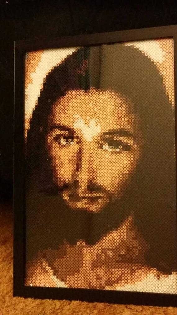 jesus perler portrait 11x17 framed amp made to order stunning