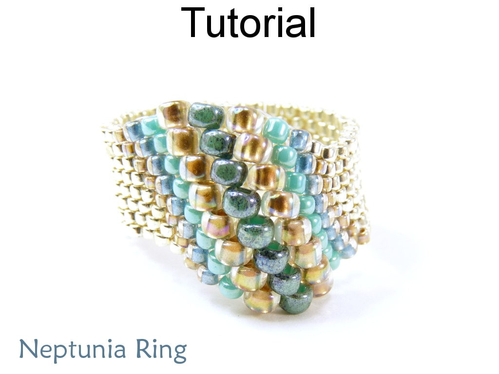 beading tutorial pattern beaded ring peyote stitch odd