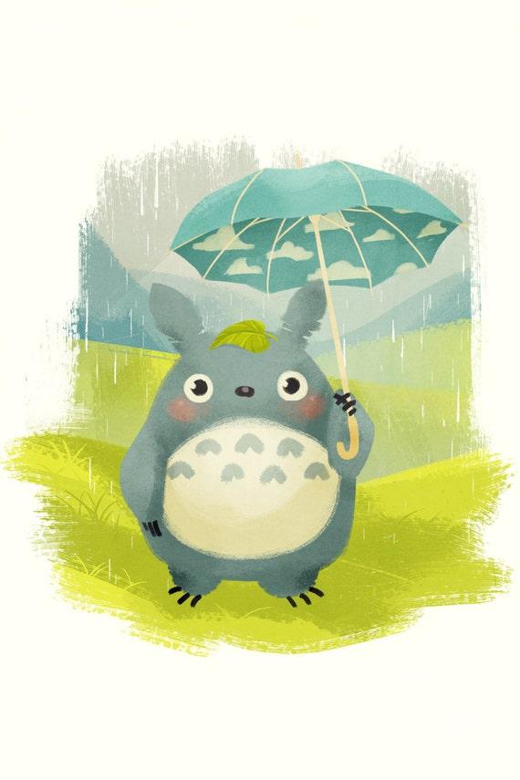 Totoro 6x4 Mini Print