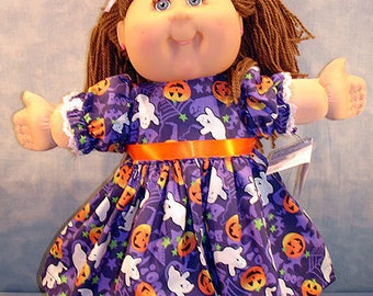 Custom Order Hearts Dress, Candy Canes and Snowmen Dress, Gobble Dress, Halloween bloomers for 16 inch doll