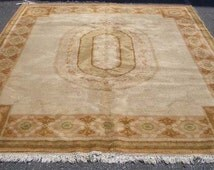 1970s Vintage, French-Style Aubusson/Savonnerie Rug (1229)