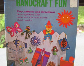 Whitman Handcraft Fun 1972 over 60 pages Patterns Directions Easy Materials Children