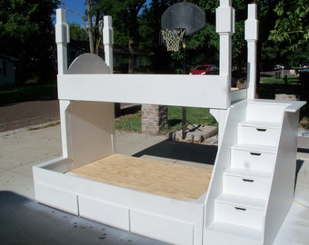 Adult bunk bed with storage