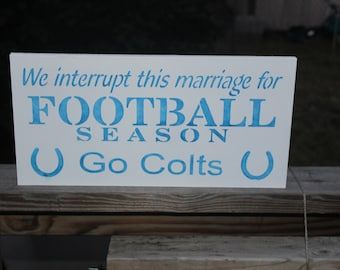 9x18 Indianapolis colts sign