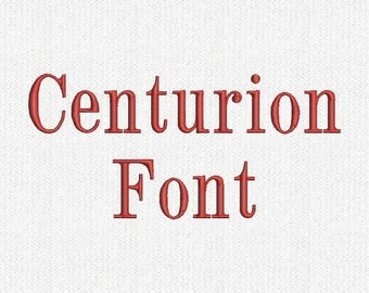 Centurion Embroidery Font