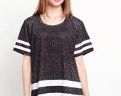 Black, Reptilprint , Shirt, T-Shirt, All Over Print Streetwear Unisex