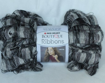 """Red Heart Boutique Ribbon """"City"""" yarn skein"""