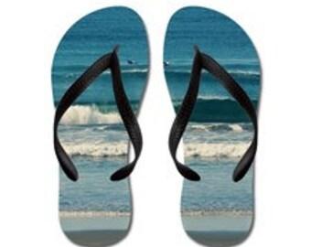Wonderful - Summertime Flip Flops - Original Photograpy by RDelean Designs, beach, sea, coast, nature, surf, waves