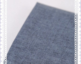 """FREE SHIPPING - F052 Linen fabric with Light Coating of solid plain color (Navy Blue) - 45 cm x 65 cm / 17.5"""" x 26.5"""""""