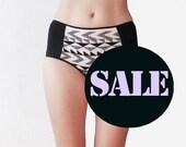 GEOMETRIC pattern Hipster style Panties by Egretta Garzetta handmade Underwear