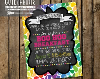 Boo Hoo Breakfast Invitations-Kindergarten
