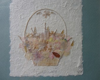 Pressed Flower Framed and Matted Paper Art