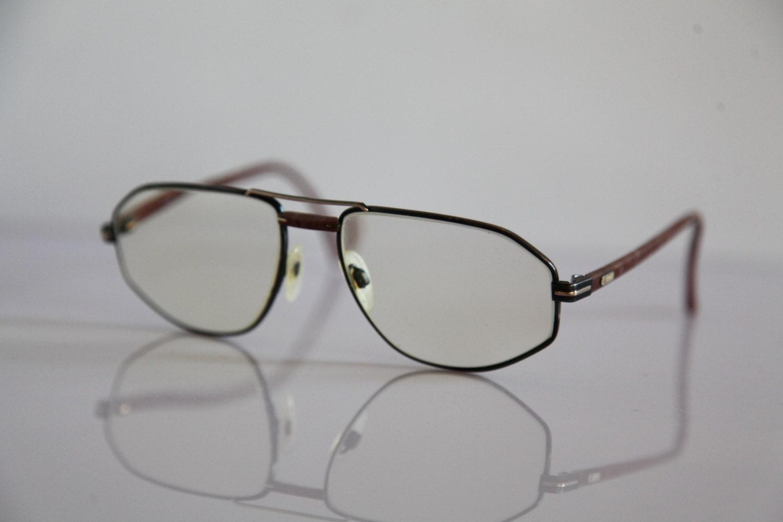 Vintage SILHOUETTE eyewear, Black, Gold, Brown Frame ...