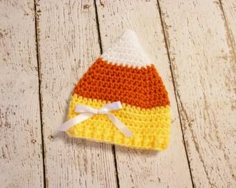 Crochet Candy Corn Hat- Newborn and 0-3 Month- Photo Prop