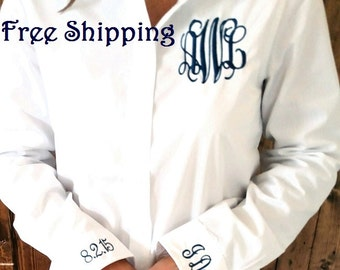 Bride-to-Be monogrammed oxford {free shipping}