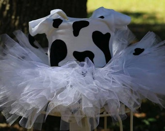 Cow Tutu Costume! Perfect for Birthdays, Photos, Pageants, & Dress-Up! Children and Adult Sizes Available!