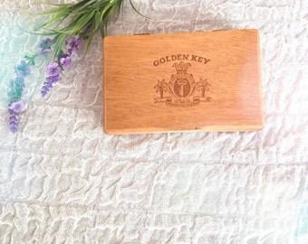Wood golden key box