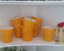 Vintage 1960's 70's  Corning  Ware Set Of 8 Coffee Cup, Mugs