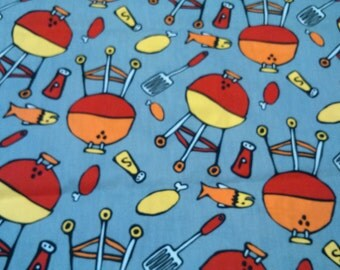 Tablecloth grey yellow red orange BBQ picnic Scandinavian Design , also napkins, table runner, , pillows , curtains available, great GIFT