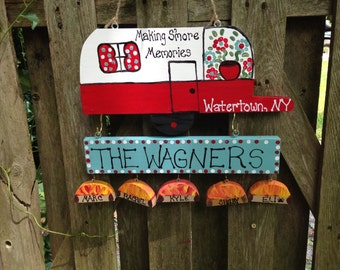 Personalized camper camping sign