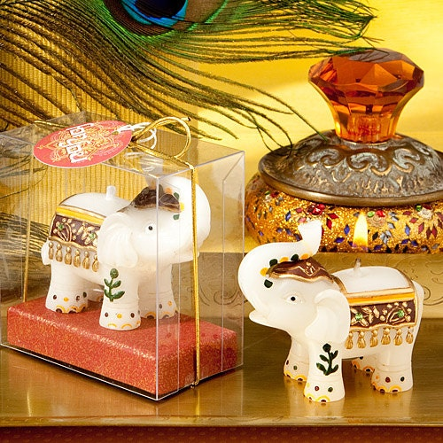 Good fortune elephant candles - Elephant favor, Elephant gift, Indian wedding favor (Set of 12)