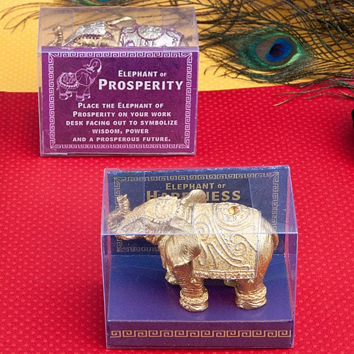 Decorative Mini Elephants - Elephant favor, Elephant gift, Indian wedding favor