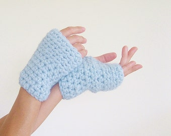 Crochet Hand Warmers Texting Gloves   Wrist Warmers   Chunky Fingerless Mittens   Trending Items   Gift Ideas