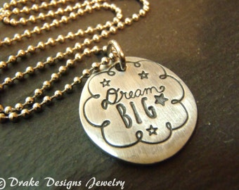 Dream big necklace inspirational graduation gift idea for her
