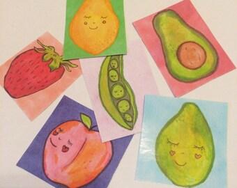 Cute Fruit Guy Stickers