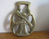 Vintage English Windmill horse brass circa 1950's