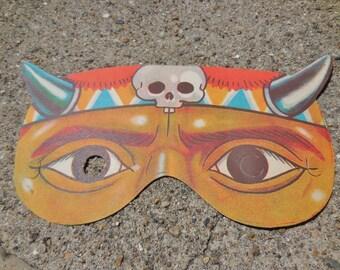 Vintage Paper Halloween Mask Made in Japan Unused