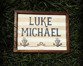 Nautical Name Sign