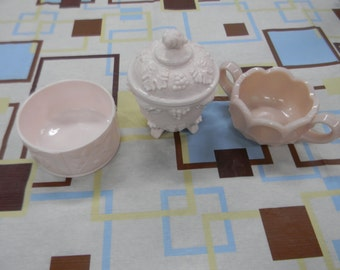 Milk Glass Trio