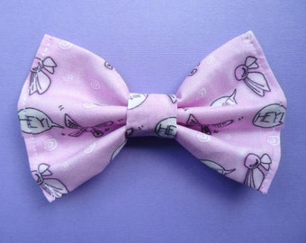 The Legend of Zelda Navi Pink Kawaii Hair Bow- Video Game Bows- Anime Bows- Kawaii- Fairy Kei