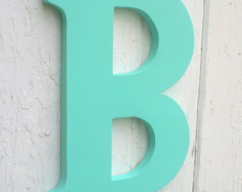 Wooden letters Big 12 inch serif letter B Patina modern Baby shower Art kids wall decor Dorm Room Gifts Signs