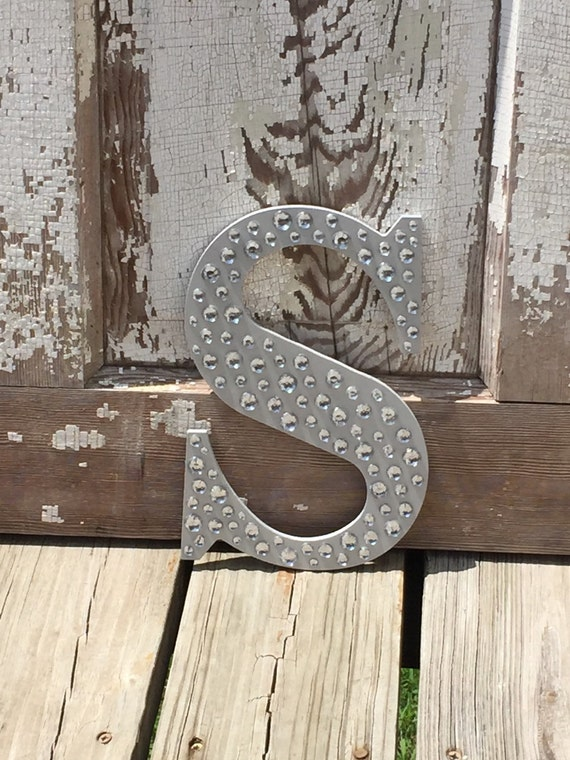 9 Sparkle Silver Bling Decorative Wall Letters Wedding