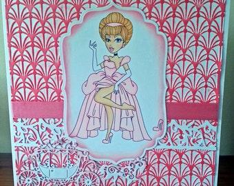 8x8 Size Princess Card