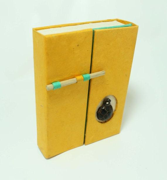 Handmade Paper Travel Journal / Notebook / Diary Lokta Paper Eco Friendly Cute Journal