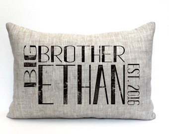 """big brother pillow, brother pillow, big brother gift, kid's pillow, child's pillow, christmas gift - """"The Big Brother"""""""