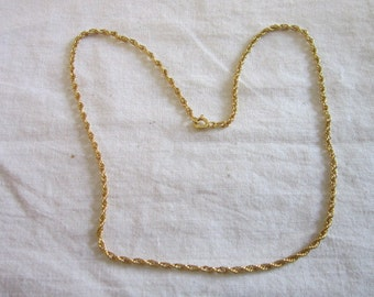 Beautiful Gold Wash Sterling Silver Double Rope Chain Necklace