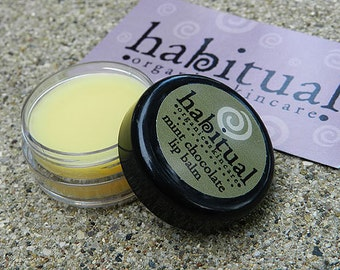 ORGANIC Lip Balm Pot - MINT CHOCOLATE - Handmade & 100% Natural - Chapstick - Eco Conscious Gift  - Handmade and Hand Poured Chemical Free