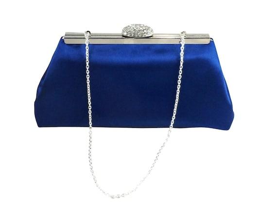 Royal Wedding Gifts: Bridesmaid Gift Clutch Royal Blue And Silver Paisley Bridal