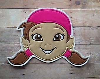 Izzy Patch ~ Jake and the Neverland Pirates Applique ~ Embroidered Iron On ~ No Sew ~
